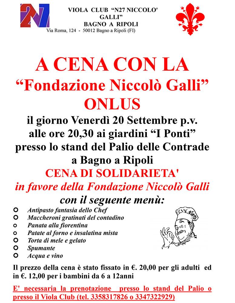A Cena Con La Fondazione Niccol Galli